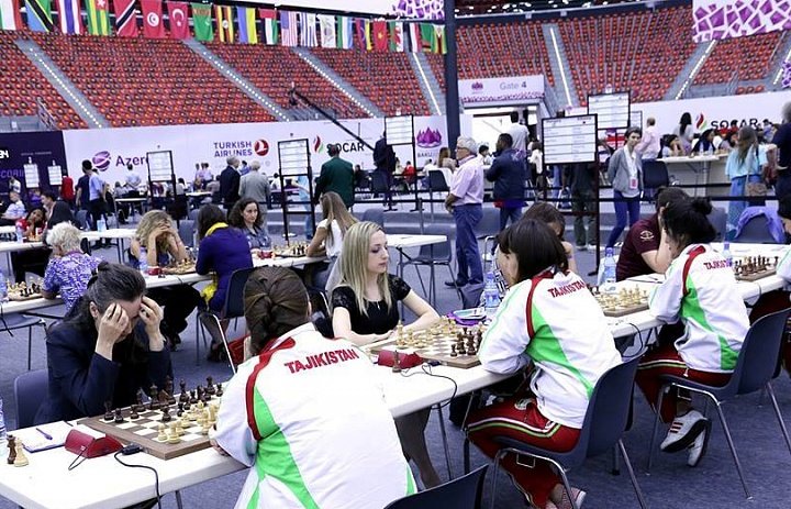 Women's team of Tajikistan defeated Belgium at chess Olympiad