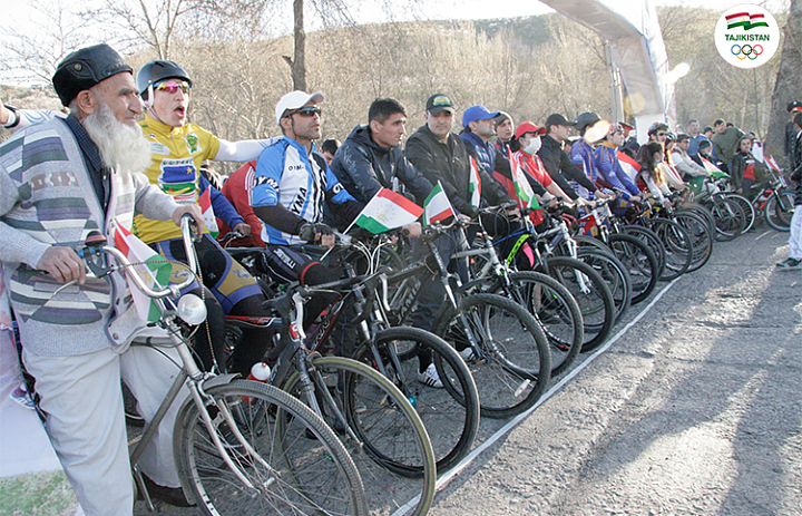 Home Race Walking and Cycling Marathon in Dushanbe