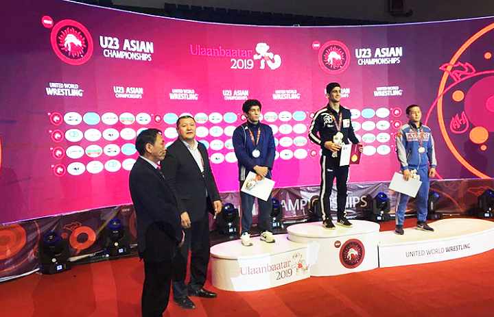 Tajikistan Wrestler won a silver medal at the U23 Asian Wrestling Championship